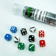 Blackfire Dice - 12mm opaque D6 in Tube (10 Dice)