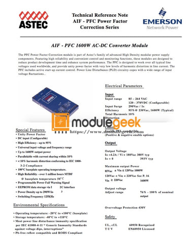1Pcs Power Supply Module Astec Aif04Zpfc-01 Nl New 100% Best Price And Quality Assurance Module