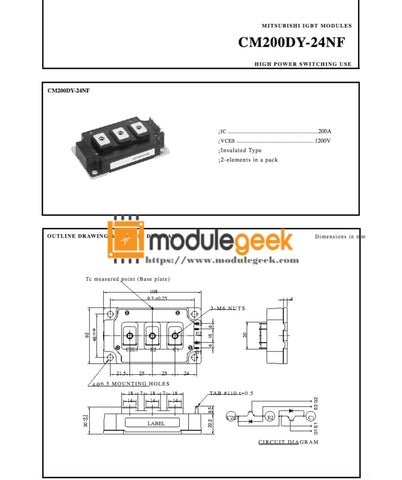 1Pcs Power Supply Module Mitsubishi Cm200Dy-24Nf New 100% Best Price And Quality Assurance Module