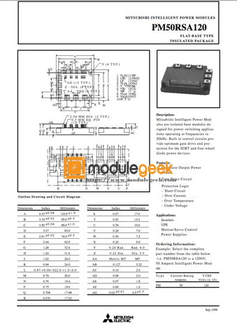 1Pcs Power Supply Module Mitsubishi Pm50Rsa120 New 100% Best Price And Quality Assurance Module