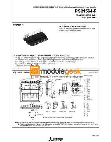 1Pcs Power Supply Module Mitsubishi Ps21564-P New 100% Best Price And Quality Assurance Module