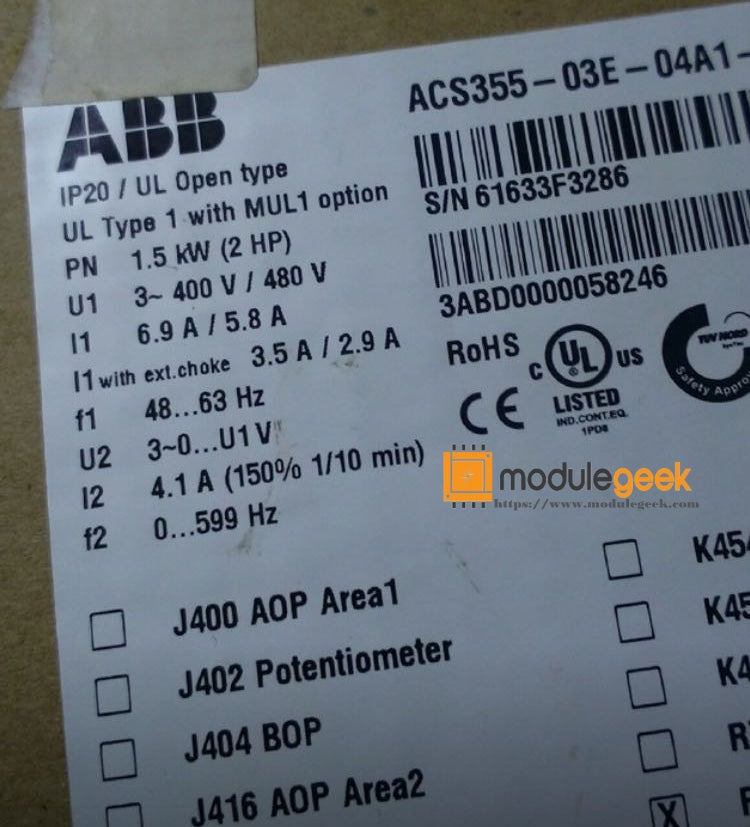 1PCS ABB ACS355-03E-04A1-4 POWER SUPPLY MODULE NEW 100% Best price and quality assurance