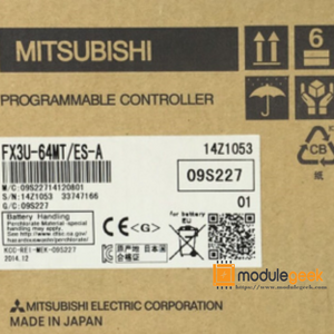 1PCS  MITSUBISHI FX3U-64MT/ES-A POWER SUPPLY MODULE  NEW 100%  Best price and quality assurance