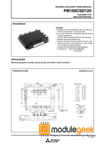 1PCS MITSUBISHI PM150CSD120 POWER SUPPLY MODULE  NEW 100%  Best price and quality assurance