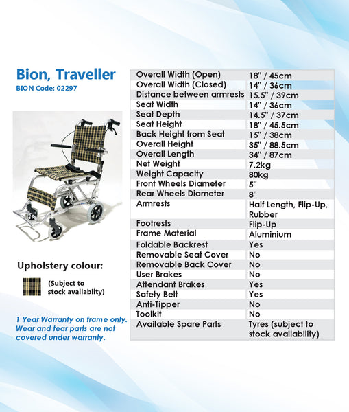 FOR RENT: BION Traveller
