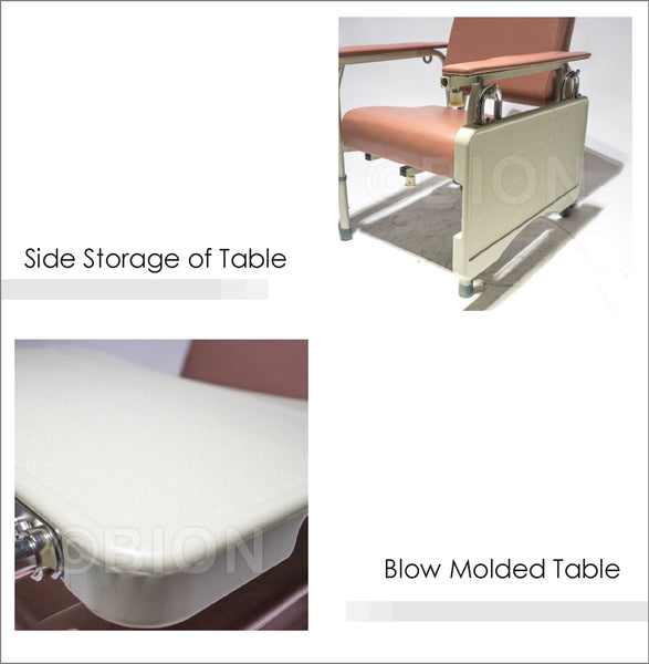 Side Storage of Table and Blow Molded Table