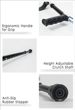 Load image into Gallery viewer, Ergonomic Handle for Grip, Height Adjustable Crutch Shaft and Anti-Slip Rubber Stopper