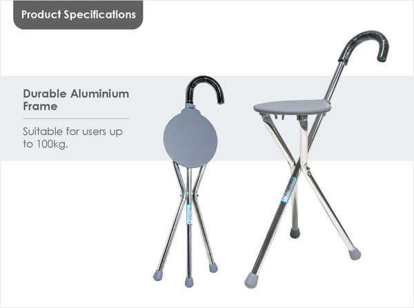 Durable Aluminium Frame, Support up to 100kg