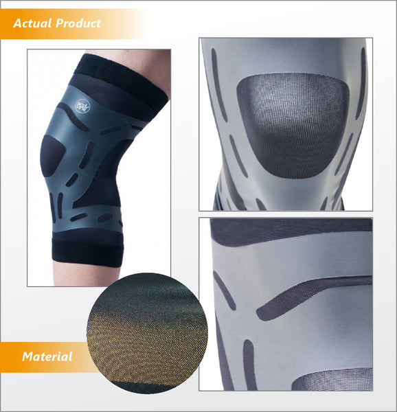 UltraThin Knee Stabilizer Side and Front Profile