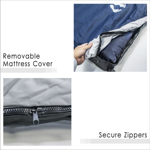 Removable mattress Cover and Secure Zippers