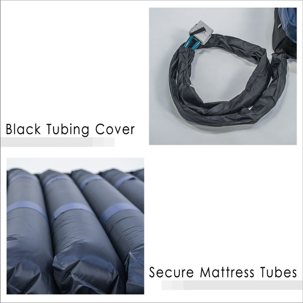 Black Tubing Cover and Secure Mattress Tubes
