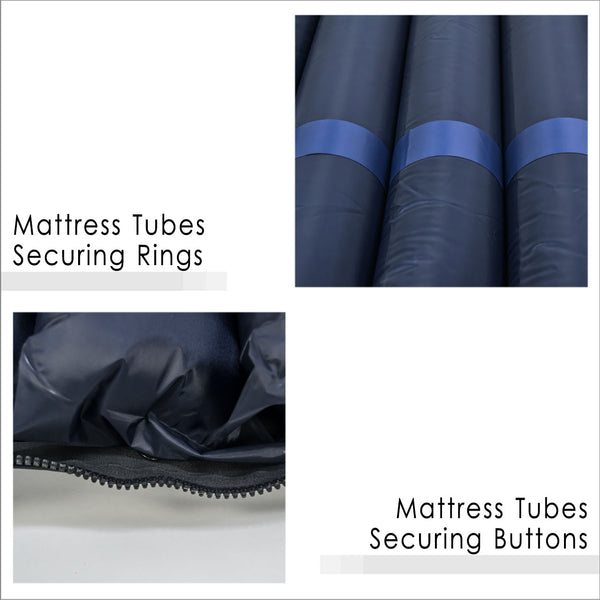 Mattress Tubes Securing Rings and Buttons