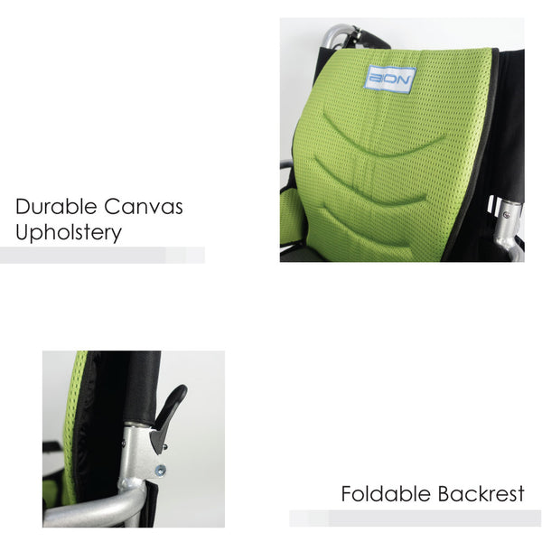 Durable Canvas Upholstery & Foldable Backrest