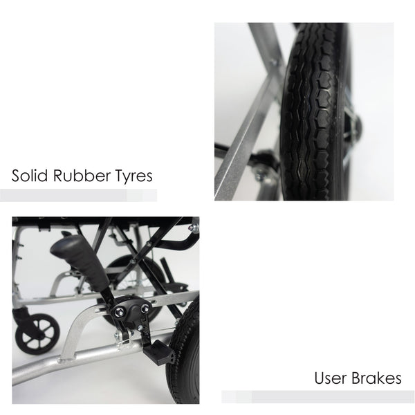 Solid Rubber Tyres & User Brakes