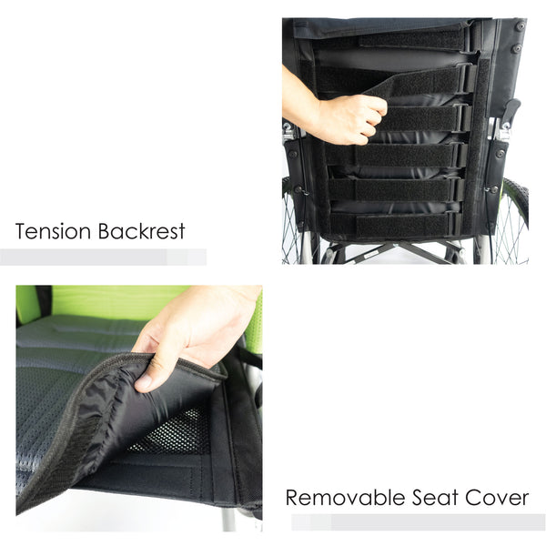 Tension Backrest , Removable Seat cover