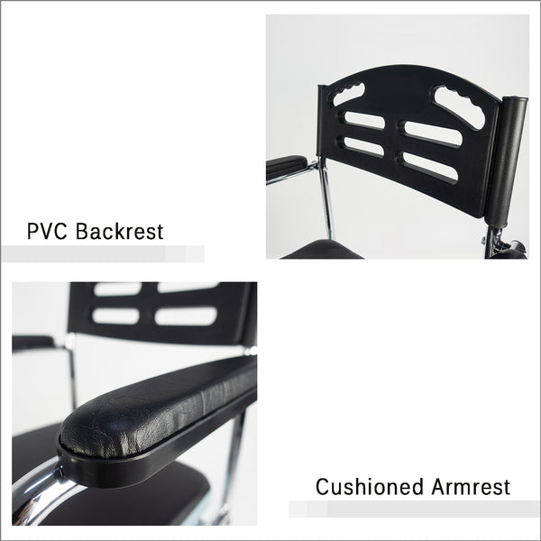 PVC Backrest and Cushioned Armrests