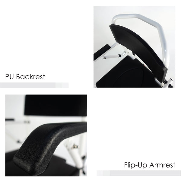 PU Backrest and Flip-up Armrest
