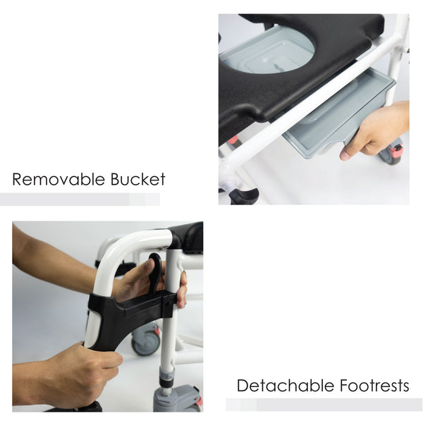 Removable Bucket and Detachable Footrests