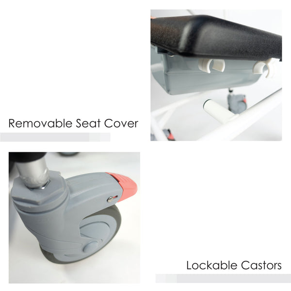 Removable Seat Cover and Lockable Castors