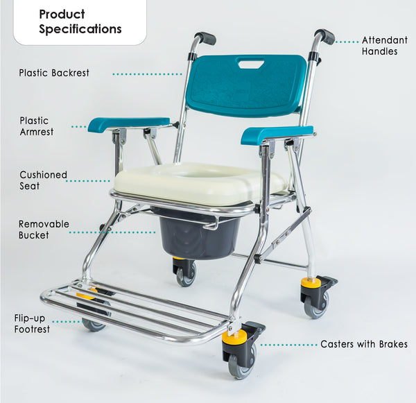 Commode with Labelled Parts