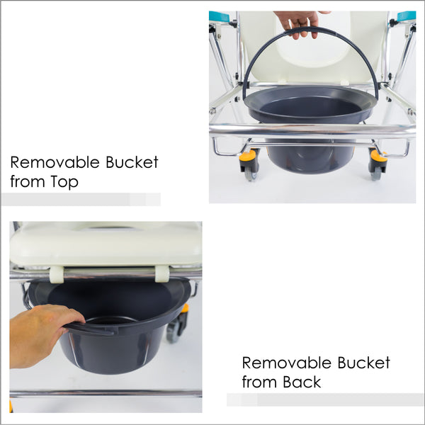 Removable Bucket from Front and Back