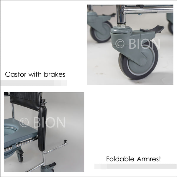 Castors and Foldable Armrests