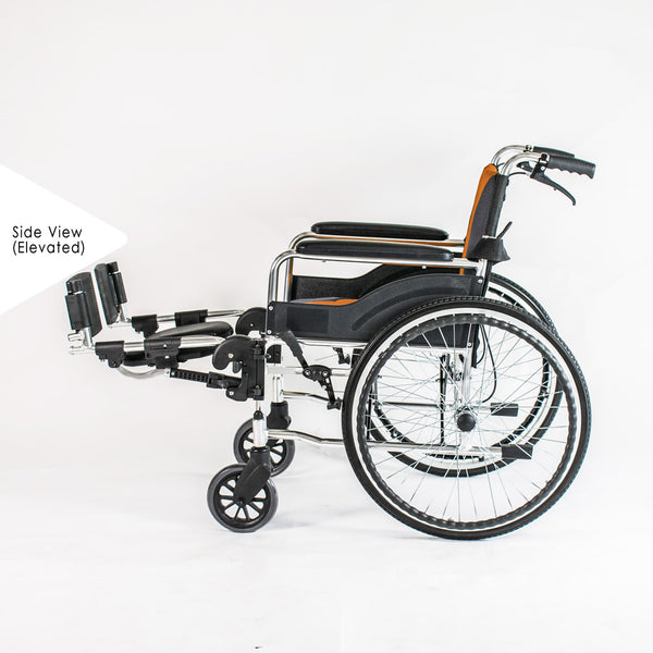 Wheelchair Side Profile (Legs Elevated)