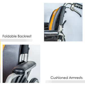 Foldable Backrest and Cushioned Armrests