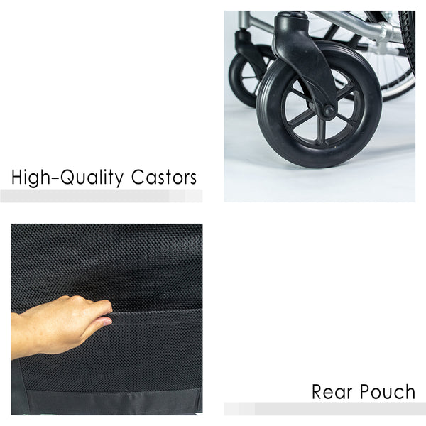 High-Quality Castors and Rear Pouch