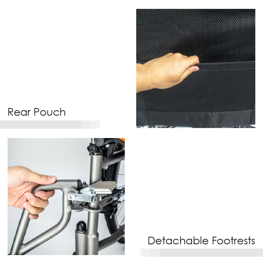Rear Pouch and Detachable Footrests