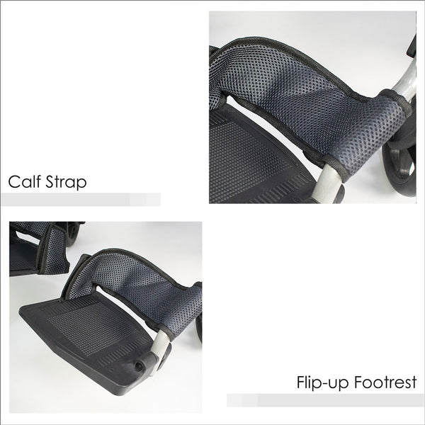 Calf Strap and Flip-up Footrests