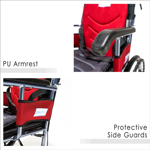 PU Armrest and Protective Side Guards