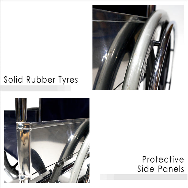 Solid Rubber Tyres and Protective Side Panels