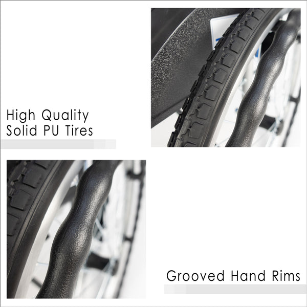 PU Tires and Grooved Hand Rims