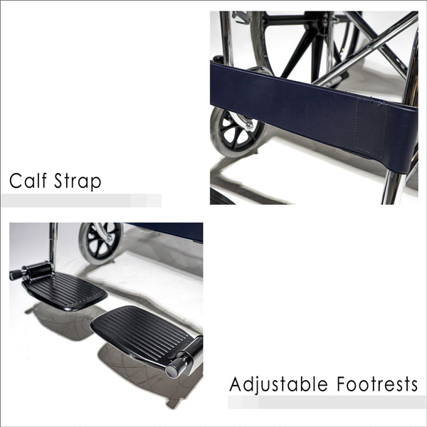 Calf Strap and Adjustable Footrests