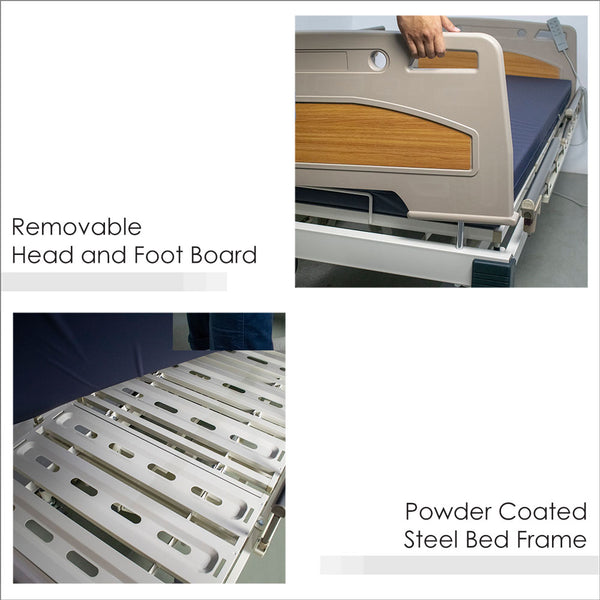 Removable Head and Foot Board, and Powder Coated Steel Bed Frame