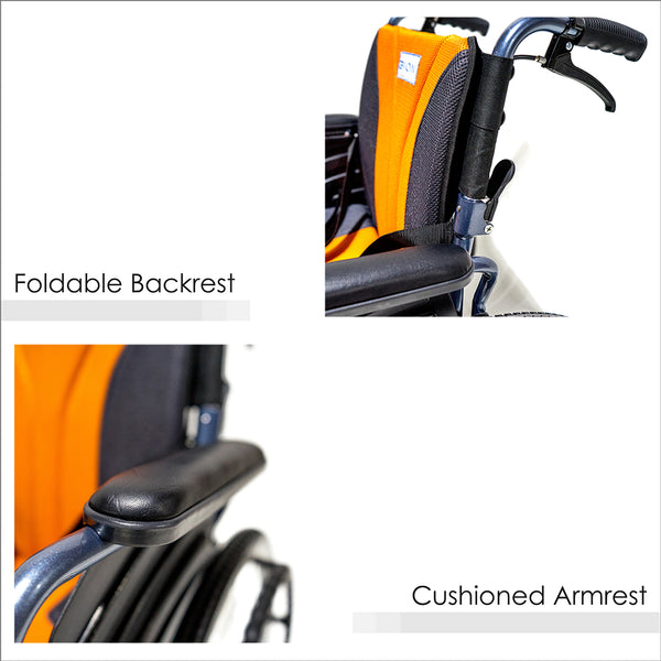 Foldable Backrest and Cushioned Armrest
