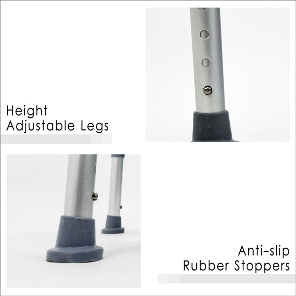 Height Adjustable Legs and Anti-Slip Rubber Stoppers