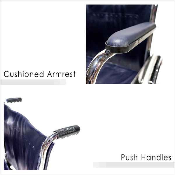 Cushioned Armrest and Push Handles