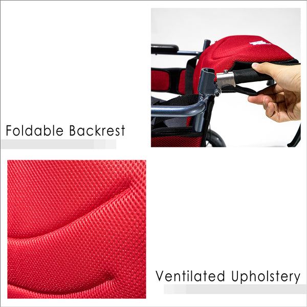 Foldable Backrest and Ventilated Upholstery