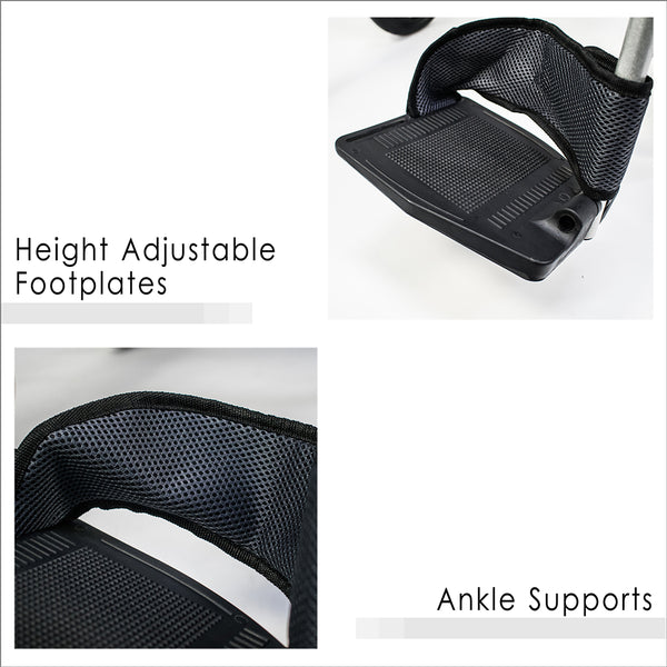 Height Adjustable Footplates and Ankle Supports