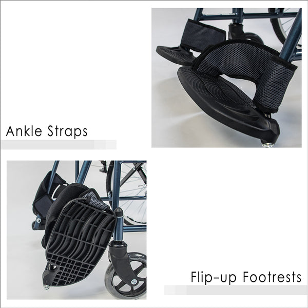 Ankle Straps and Flip-up Footrests
