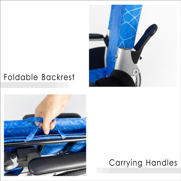 Foldable Backrest and Carrying Handles