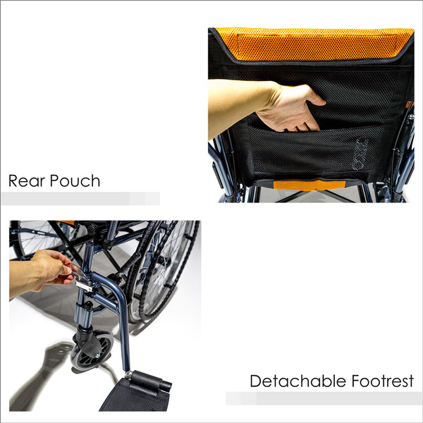 Rear Pouch and Detachable Footrest