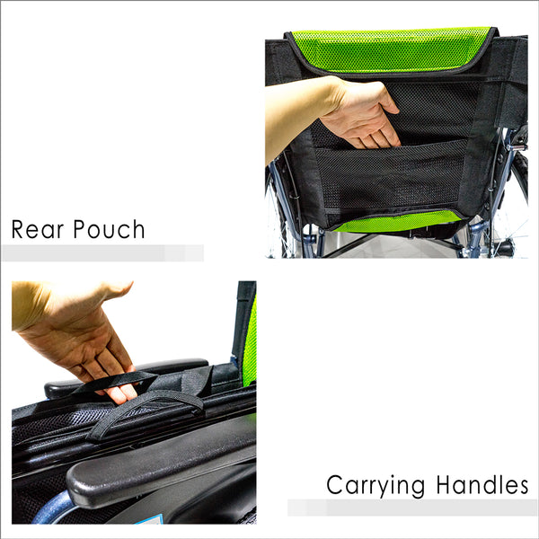 Rear Pouch and Carrying Handles