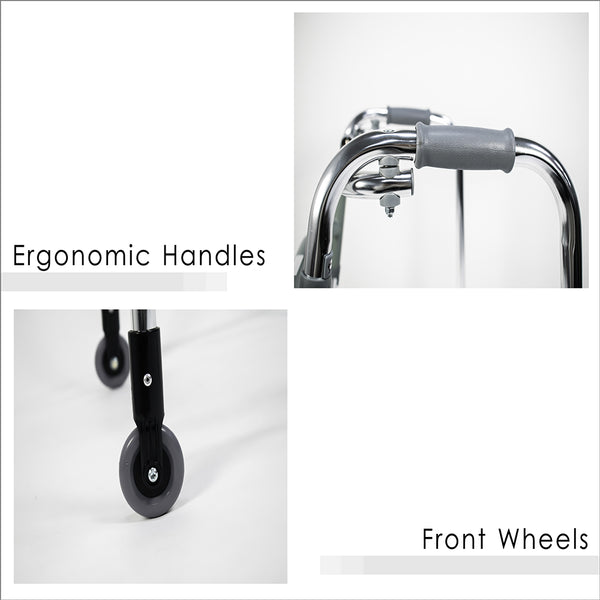 Ergonomic Handles and Front Wheels