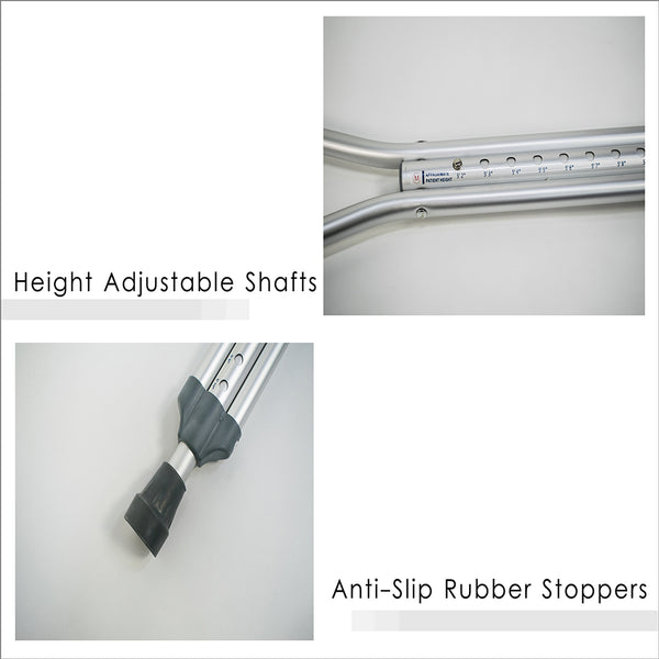 Height Adjustable Shafts and Anti-Slip Rubber Stoppers