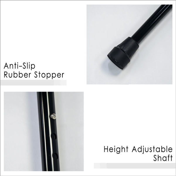 Anti-slip Rubber Stopper and Height Adjustable Shaft
