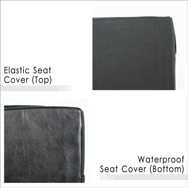 Elastic Seat Cover (Top) and Waterproof Seat Cover (Bottom)