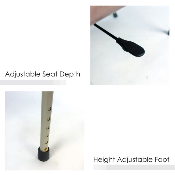 Adjustable Seat Depth and Height Adjustable Foot